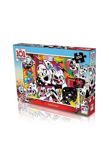 KS Puzzle KS Puzzle DAL714 Dalmation Temalı 100 ParÇa Çocuk Puzzle Renkli